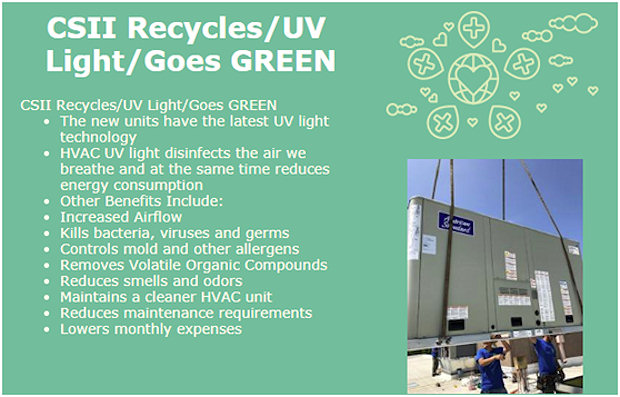 CSII Recycles - Goes Green